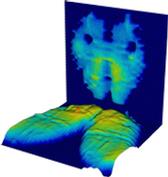 Gleichzeitiges 3D-Druckmessen auf Sitz- und Rückenfläche eines Polsterstuhles