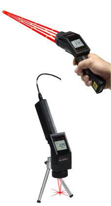 Präzisions-Infrarot-Handthermometer OPTLS, LaserSight, umschaltbare Optik nah/fern